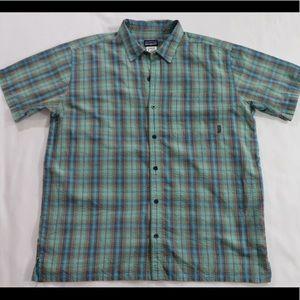 Patagonia Men's XL Casual Dress Shirt Teal Blue